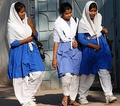 Muslim Girls walking for school in Bangladesh