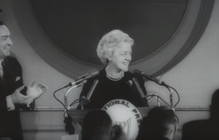 Smith announcing her candidacy for the President of the United States