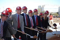 The official groundbreaking ceremony for the stadium took place on February 8, 2013