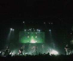 Underoath performing at The Tabernacle in Atlanta, Georgia on April 23, 2016