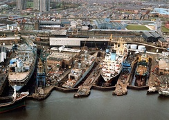 Wallsend ship repair dry docks, 1987
