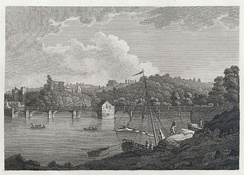 The Bridge and Castle at Chepstow at the end of the 18th century