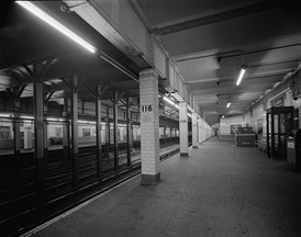 The station's downtown platform in 1978.