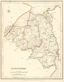 Map of County Londonderry, 1837
