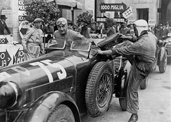 Brivio and co-driver Ongaro at 1936 Mille Miglia which they won