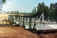 Squadron constructing a Transfield heavy girder (temporary) bridge