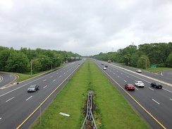 Interstate highway in New Jersey built to modern standards