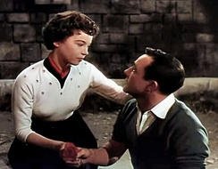 Leslie Caron and Kelly in the trailer for An American in Paris (1951)