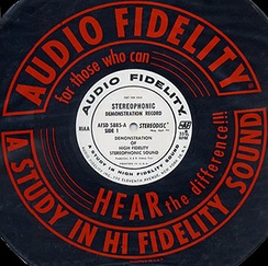 Label and sleeve from Audio Fidelity Records' second stereo demonstration record, ca. 1958.