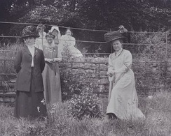Fawcett, Mary Blathwayt and Dr Mary Morris at Eagle House