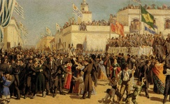 The 1830 Constitution of Uruguay coming into force
