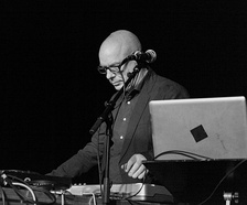 Brian Eno at a live remix in 2012