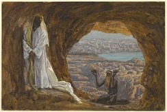 Jesus Tempted in the Wilderness (Jésus tenté dans le désert), James Tissot, Brooklyn Museum