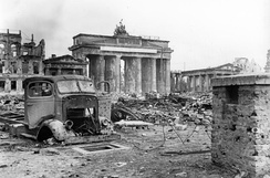 View over Pariser Platz To the Brandenburg Gate  June 1945