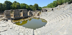 The remains of the Roman amphitheatre in Butrint.