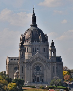 Cathedral of Saint Paul as seen from the Landmark Center