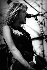 Courtney Love performing with Hole at Big Day Out, Melbourne, January 22, 1995.
