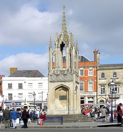 Market cross at Devizes, a market town in Wiltshire.