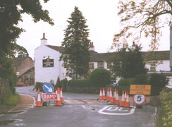 A disinfectant-bath in Kettlewell during the 2001 United Kingdom foot-and-mouth outbreak.