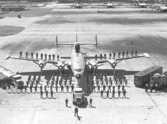 EC-121 Warning Star support crew on the tarmac