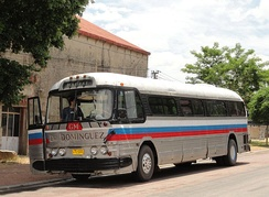 GM P-series bus, made in the late 1950s, still working in Conchillas, Uruguay (2011).