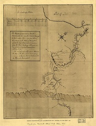 The Allegheny River is named as Ohio on a sketch by George Washington.