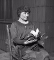 American author, political activist, and lecturer Helen Keller (AB, Radcliffe College, 1904)