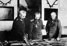 Hindenburg, Wilhelm II, and Ludendorff in January 1917