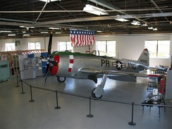 Muñiz's PRANG P-47 on display at the Peterson Air & Space Museum, Colorado
