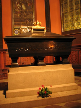 Grave of Catherine Månsdotter, the Queen of Sweden, at the Turku Cathedral in Turku, Finland