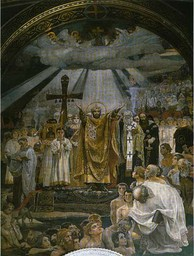 The Baptism of Kievans, a fresco by Viktor Vasnetsov