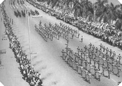 Военный парад в Луанде времён Гражданской войны