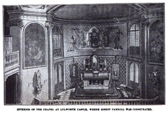 Interior of the chapel at Lulworth Castle, where Carroll was consecrated a bishop