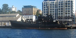 A $5 million donation from Bob Barker facilitated the purchase of the MY Bob Barker, pictured here docked in Hobart, Tasmania.