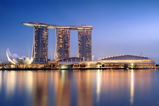 View of the Marina Bay Sands in Marina Bay, Singapore