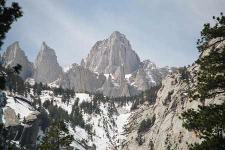 Mount Whitney highest summit of the Sierra Nevada, California, and the lower 48 states.