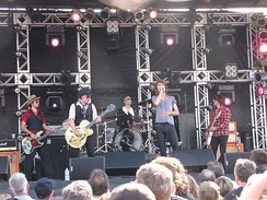 The New York Dolls, performing at the Burlington Sound of Music festival in 2010