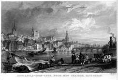 An engraving by William Miller of Newcastle in 1832
