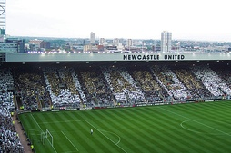 Alan Shearer mosaic during his testimonial match in May 2006. The club's record goalscorer retired that month.