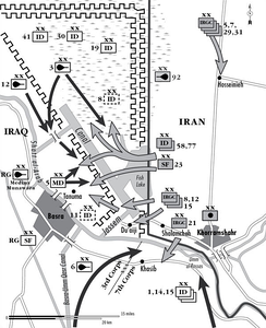 Iranian offensive on city of Basra