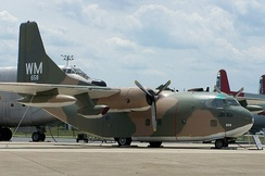 A C-123K on display at Air Mobility Command Museum at Dover AFB.