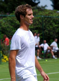 Gasquet at the Boodles Challenge in June 2011