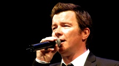 Rick Astley performing in 2009