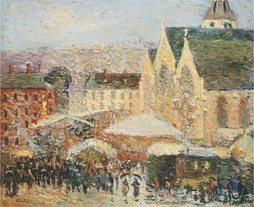 Robert Antoine Pinchon, 1905–06, La foire Saint-Romain sur la place Saint-Vivien, Rouen, oil on canvas, 49 x 59.4 cm