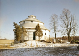 A round barn in Fayette County