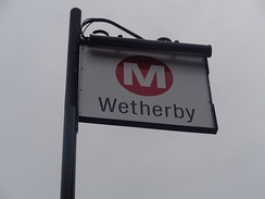 The West Yorkshire Metro livery is used at all rail and bus transport in West Yorkshire such as here at Wetherby bus station