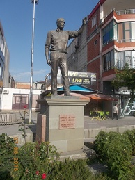 The statue of George W. Bush was erected at Fushë-Krujë, Albania after his visit