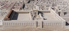 Reconstruction of Herod's Temple as seen from the east (Holyland Model of Jerusalem, 1966)