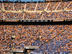 Tennessee's national championship claims, as posted in their Neyland Stadium