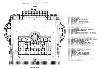 Plans of the baths (more here )